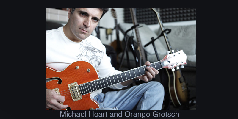 Michael Heart and Orange Gretsch
