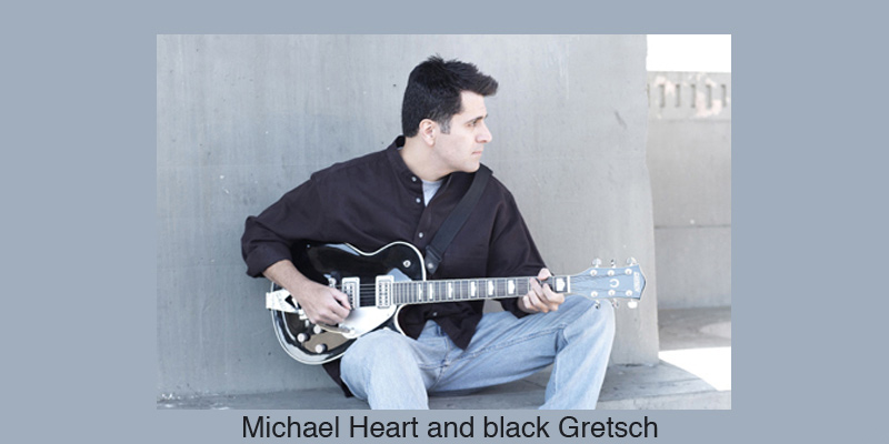 Michael Heart and black Gretsch