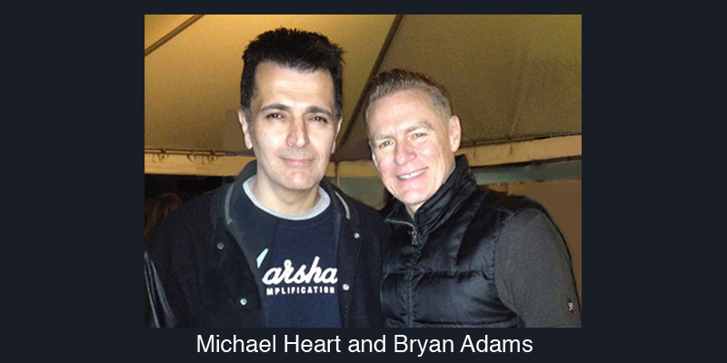 Michael Heart and Bryan Adams