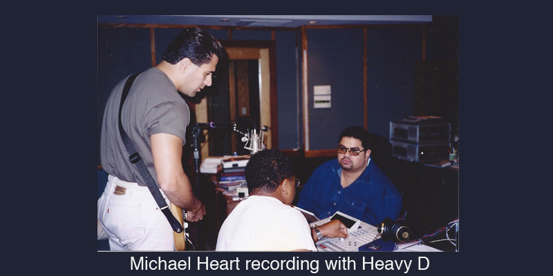 Michael Heart recording with Heavy D